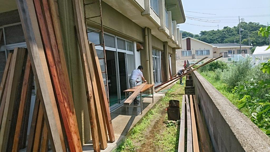 フウド・材木洗浄~